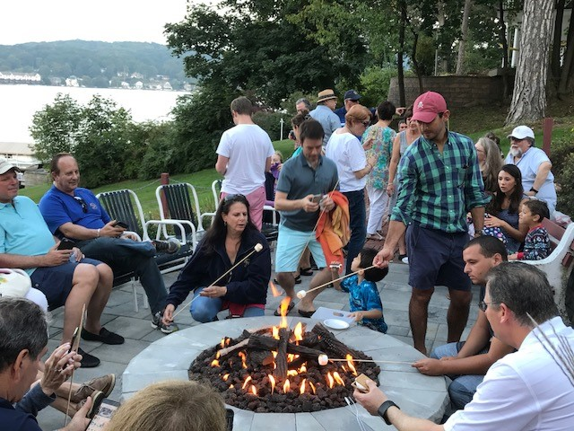 Lake Hopatcong, Yacht Club firepit party