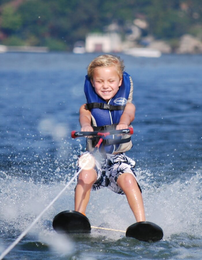 Lake Hopatcong, Yacht Club water skiing child